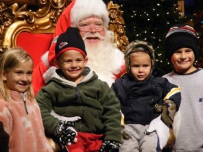 Kids and Santa at SDC