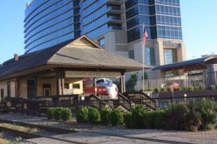 Hilton Branson convention Center by railway