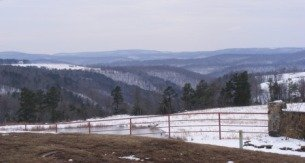 winter view north of Clinton Arkansas